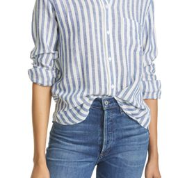 Charli Stripe Linen Blend Blouse | Nordstrom