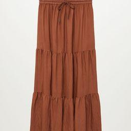 Ruffled cotton skirt | MANGO (US)