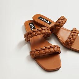 Braided straps sandals | MANGO (US)