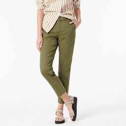 Vintage straight pant in garment-dyed stretch chino | J.Crew US