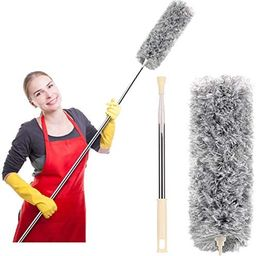 Microfiber Duster for Cleaning with Extension Pole(Stainless Steel), Extra Long 100 inches, with ...   Amazon (US)