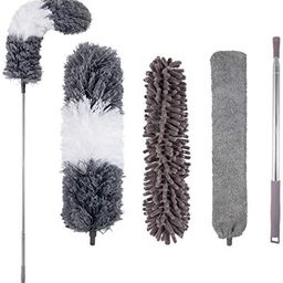 Microfiber Duster, with Extension Pole(Stainless Steel) 30 to 100 Inches, Reusable Bendable Duste...   Amazon (US)