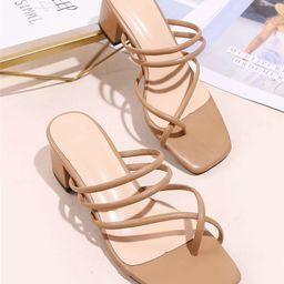 Thin Strap Thong Sandals   SHEIN
