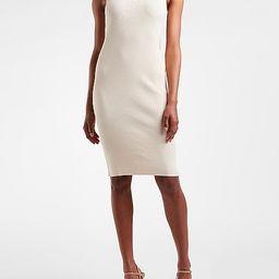 Sleeveless Ribbed Midi Sweater Dress | Express