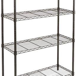 Amazon Basics 4-Shelf Adjustable, Heavy Duty Storage Shelving Unit (350 lbs loading capacity per ...   Amazon (US)