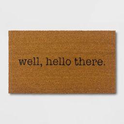 Well, Hello There Doormat - Black/Beige - Room Essentials™ | Target