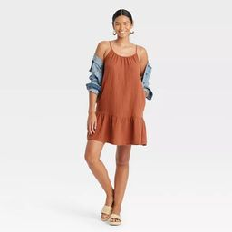 Women's Sleeveless Tiered Gauze Dress - Universal Thread™   Target