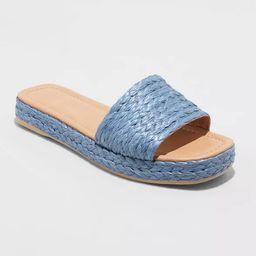 Women's Mardi Raffia Platform Slide Sandals - Universal Thread™ | Target