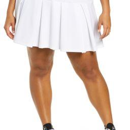 Plus Size Women's Bp Knit Tennis Skirt, Size 1X - White | Nordstrom