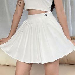 Sosana Lettering Pleated A-Line Mini Skirt | YesStyle | YesStyle Global