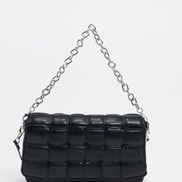ALDO Wynonna quilted shoulder bag with chain in black | ASOS (Global)