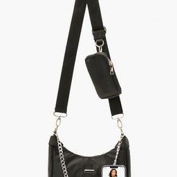 Nylon Multi Way Cross Body Bag With Mini Bag | Boohoo.com (UK & IE)