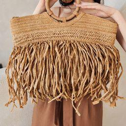 Fringe Design Tote Bag | SHEIN