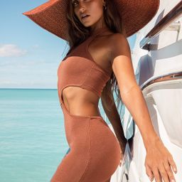 Spot in the Shade Rust Red Oversized Straw Hat   Lulus (US)