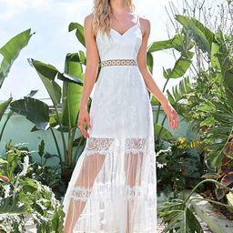 Elegant Spaghetti Strap V-Neck Popular Fabrics Wedding Dress   Ever Pretty