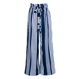 Women High Waist Striped Loose Palazzo Pants Ladies Wide Leg Pants | Walmart (US)