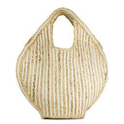 Magid Women's Stripe Jute Beach Tote Bag | Walmart (US)