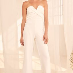Total Confidence White Strapless Jumpsuit | Lulus (US)