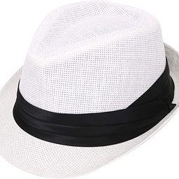Verabella Women/Men's Summer Short Brim Straw Fedora Sun Hat   Amazon (US)