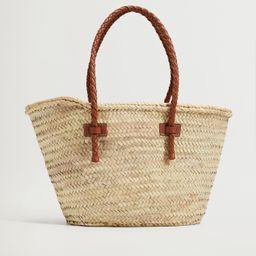 Basket bag with braided straps | MANGO (US)