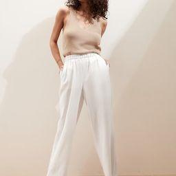 Linen Straight Pull-On Pant | Banana Republic Factory