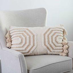 New!Octavia Neutral Embroidered Lumbar Pillow | Kirkland's Home