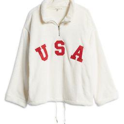 USA Oversize Quarter-Zip Fleece Sweatshirt | Nordstrom