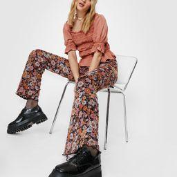 Floral Print Mesh Flare Pants | NastyGal