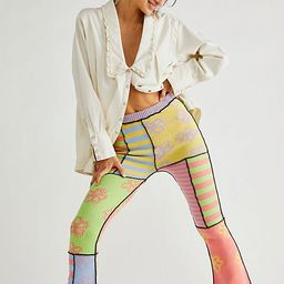 The Ragged Priest Mix Knit Flare Pants | Free People (US)