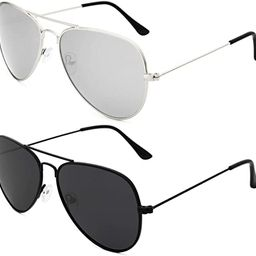 Livhò Sunglasses for Men Women Aviator Polarized Metal Mirror UV 400 Lens Protection   Amazon (US)