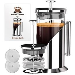 French Press Coffee Maker (8 cup, 34 oz) With 4 Level Filtration System, 304 Grade Stainless Steel,  | Walmart (US)