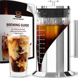 Cafe du Chateau Cold Brew Coffee Maker - 34 Ounces - Cold Brew Maker Machine Kit - Glass Pitcher for | Walmart (US)