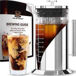 Cafe du Chateau Cold Brew Coffee Maker - 34 Ounces - Cold Brew Maker Machine Kit - Glass Pitcher ... | Amazon (US)