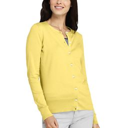 Women's Supima Cotton Cardigan Sweater - Lands' End - Yellow - XS   Lands' End (US)