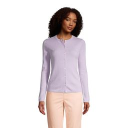 Women's Lands' End Classic Cashmere Cardigan Sweater, Size: Small, Drk Purple   Kohl's