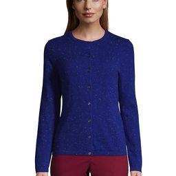Women's Petite Cashmere Cardigan Sweater - Lands' End - Blue - L   Lands' End (US)
