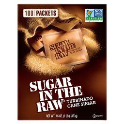Sugar In The Raw Turbinado Cane Sugar Packets - 100ct/16oz | Target