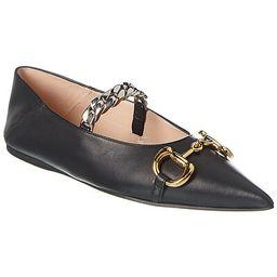 Gucci Horsebit Leather Ballet Flat | Gilt