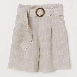 H & M - Lyocell-blend shorts - Beige | H&M (UK, IE, MY, IN, SG, PH, TW, HK, KR)