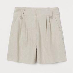 H & M - Linen-blend Shorts - Beige | H&M (US)