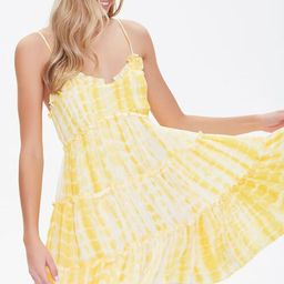 Tie-Dye Fit & Flare Dress   Forever 21 (US)