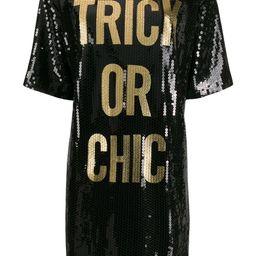 sequined T-shirt dress | Farfetch (US)