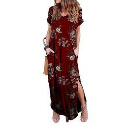 UKAP Plus Size Beach Floral Long Maxi Dresses For Women Ladies Short Sleeve Cocktail Party Evenin...   Walmart (US)