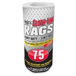Intex Supply 271711 White Cloth-Like Rags Roll - 75 Count | Walmart (US)