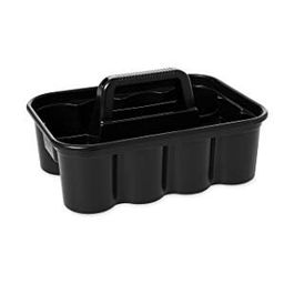 Rubbermaid Commercial Deluxe Carry Cleaning Caddy Black | Walmart (US)