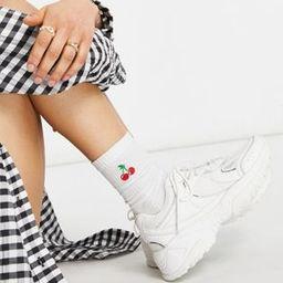 ASOS DESIGN Dorri sneakers with mesh in white | ASOS (Global)
