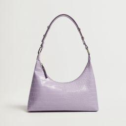 Croc-effect baguette bag | MANGO (US)