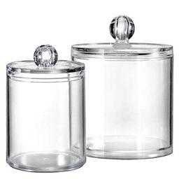 Bathroom Vanity Storage Organizer Canister Holder Apothecary Jars Set for Qtips,Cotton Balls,Swabs,R | Walmart (US)