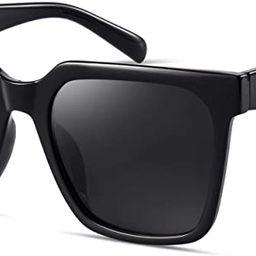 mosanana Oversized Square Sunglasses for Women Simple Trendy Style MS51917 | Amazon (US)