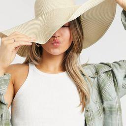 South Beach wide brim floppy hat in beige | ASOS (Global)